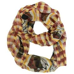 Washington Redskins Infinity Scarf - Plaid