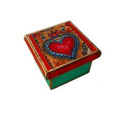 Sacred Heart  Original Mixed Media Handmade Jewelry by FlorLarios