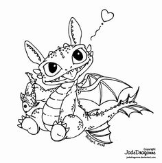 Toothless Dragon Coloring Page Elegant Baby toothless by Jadedragonne On Deviantart Blank Coloring Pages, Star Coloring Pages, Dragon Coloring Page, Disney Coloring Pages, Coloring Books, Cute Toothless, Toothless Dragon, Coloring Sheets For Boys, Animal Doodles