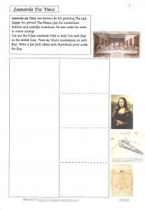 Lapbooks of famous artists (DaVinci and Michelangelo would be good to do before we go to Italy)