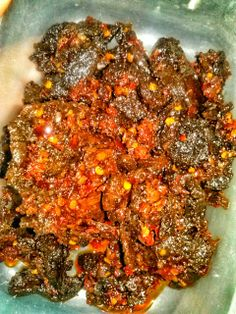 Dendeng balado (Spicy Beef), West Suamtra Cuisine, Indonesia