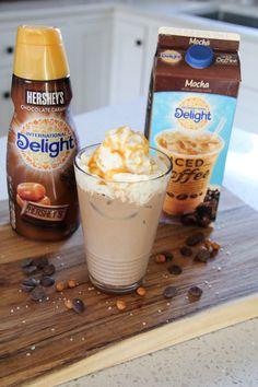 Salted Caramel Iced Mocha - Got Drinks? Iced Mocha Coffee, Iced Coffee Drinks, Coffee Drink Recipes, Starbucks Recipes, Starbucks Drinks, Coffee Coffee, Starbucks Coffee, Coffee Beans, Coffee Truck