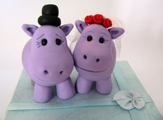 Hippo Fondant Topper--adorbs!