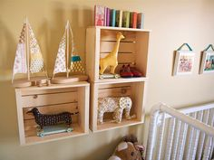 wood crates as decor boxes