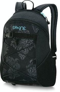 Dakine SOHO Black Silver Grey Embroidered Logo Bi Fold Zip Pocket Women/'s Wallet