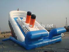 Titanic inflatable dry #slide