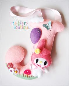 Crafters Boutique: My Melody Theme Felt Monogram