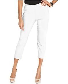 Alfani Skinny Pull-On Capri Pants - Pants - Women - Macy's