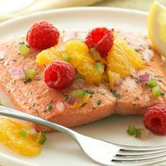 Citrus  Fillets with Raspberry Salsa