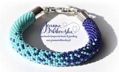 Bead crochet rope bracelet by Justyna Kraszewska
