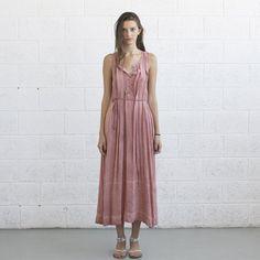 Summer Maxi Dress - Pink Salmon