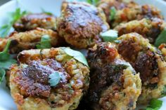 A traditional Indian porridge of rice and legumes gets a makeover with this baked patty version.