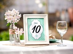 Free DIY Wedding Printables from Evermine #wedding #printable #sign #reception #decoration #outdoor #backyard #table #number