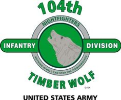 """Amazon.com: 104TH INFANTRY DIVISION """"TIMBER WOLF"""" """" U.S. MILITARY CAMPAIGNS LAMINATED PRINT ON 18"""" x 24"""" QUARTER INCH THICK POSTER BOARD: Everything Else"""