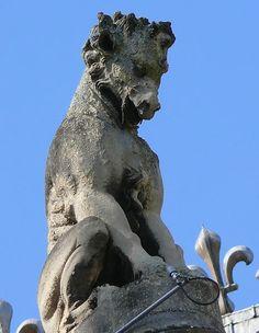 Notre-Dame de Reims - Portail ouest - dragon
