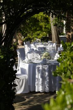 Wedding reception overlooking the most amazing garden in Greece