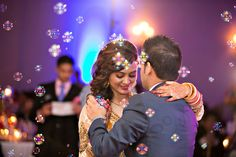 Add a whimsical touch to your first dance with bubbles!