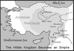 A map of the hittite empire
