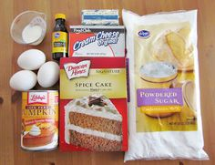 Easy Pumpkin Spice Cake Just 3 ingredients & really good!! You can use store bought icing or try the frosting recipe
