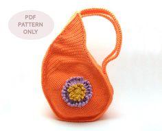 PDF pattern - Teardrop Shape Crochet Bag Pattern