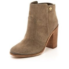 0df3cacf5197 Tory Burch Leena Suede Mid Heel Booties - Briar Wood - product - Product  Review