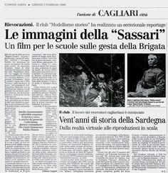 """L'Unione Sarda. 3 febbraio 2000. Fabiano Gaggini. Le immagini della """"Sassari""""."""