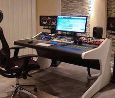 Modson studio furniture for recording and mastering studio Recording Studio Furniture, Home Recording Studio Setup, Home Studio Desk, Studio Living, Audio Studio, Music Studio Room, Wall Dining Table, Consoles, Studio Equipment