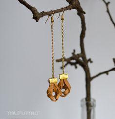 Eco friendly earrings.Leather earrings.Leather by missismiss, $18.00