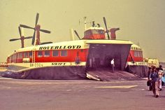 Hoverlloyd hovercraft on an English Channel beach, 1973 - Hovercraft - Wikipedia, the free encyclopedia