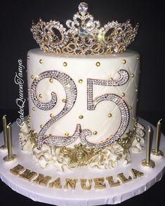 JustRite Papercraft Birthday Cake Background Stamp and Birth Birthday Cake Crown, Queens Birthday Cake, 25th Birthday Cakes, Sweet 16 Birthday Cake, 25th Birthday Parties, Beautiful Birthday Cakes, Birthday Cakes For Teens, Homemade Birthday Cakes, Queen Birthday