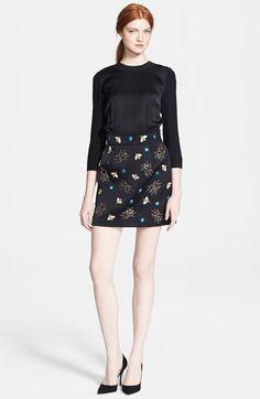 Victoria, Victoria Beckham Embellished Satin Dress