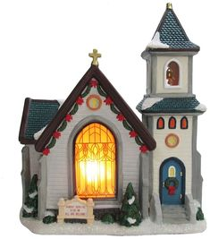 St. Nicholas Square®️️ Village Church      Incorporate your faith into your Christmas decor with this St. Nicholas Square Village Church. Affiliate