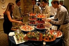 Skewer Station. Food by Hallie Jane's Catering at my wedding reception.  The food was delicious and it looked amazing too!  We had very happy guests!