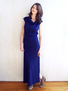 7a29a3dcca THE TEE MAXI. Love the rich blue color. I would definitely wear different  shoes with it, though.