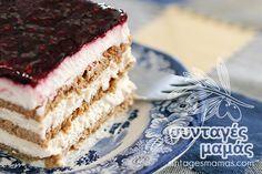 Sweet fridge with biscuits and yogurt – pastry types Yogurt, Vanilla Cake, Tiramisu, Biscuits, Cooking Recipes, Ethnic Recipes, Sweet, Desserts, Food