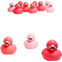 "Fun Express - Pink Flamingo Rubber Ducks, 2""Lx2""Wx2 1/2""T (1-Pack of 12)"