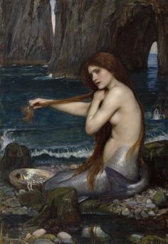 Waterhouse, John William (1849-1917) - 1900 A Mermaid (Royal Academy of Arts Collection, London) by RasMarley, via Flickr