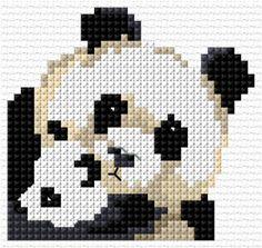 Panda cross stitch pattern