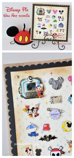 A fun way to display your Disney Trading Pins when you get home from your vacation! Kids will love this!