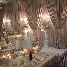 37 Ideas for wedding reception hall decorations ceiling draping Wedding Receptions, Wedding Table, Wedding Ceremony, Bridal Table, Wedding Reception Halls, Reception Ideas, Elegant Wedding, Dream Wedding, Trendy Wedding