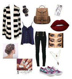 """""""Untitled #23"""" by fashsionqueen on Polyvore featuring Vans, Balmain, Sans Souci and Lime Crime"""