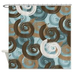 brown and aqua shower curtain. Abstract Curls Teal Brown Shower Curtain Teal And Shower Curtain  Bathroom Bedroom Decorations