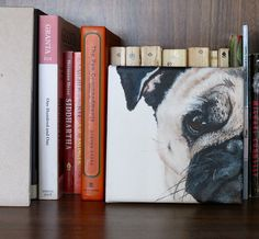 Hey Buster - Pet Portraiture by Claire Hesselgrave | CANINE #dog #art #pug