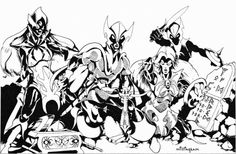 Drow guarding their treasure, by Bill Willingham, from AD&D module D1-2 Descent into the Depths of the Earth, TSR, 1978-81. Since his TSR days Willingham has illustrated and written comics for several publishers, including Marvel Here he hinted at...