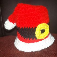 Preemie Santa Hat for my local NICU, 12/13 delivery ~ free pattern