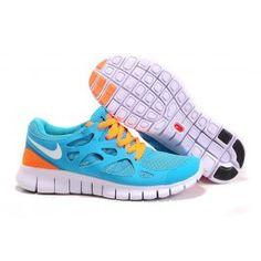 newest 48120 e7997 Großhandel Nike Free Run+ 2 Unisex Schuhe Blau Weiß Orange Schuhe Online    Ausgang Nike Free