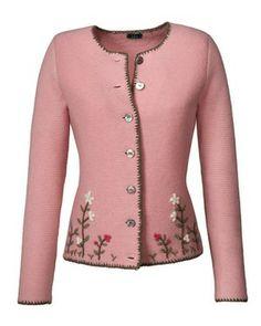 Linksstrickjacke (rosa) von Luis Steindl - Pullover & Strickjacken - Bekleidung - Damenmode Online Shop - Frankonia.de