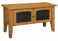 """Amish Heritage Shaker 48"""" TV Stand Small TV stand creates big impact! Solid wood and fine craftsmanship combine in this shaker style TV stand that just might steal the show. #TVstand Shaker Furniture, Amish Furniture, Furniture Making, White Oak Wood, Walnut Wood, Small Tv Stand, Stand And Deliver, Quarter Sawn White Oak, Hickory Wood"""