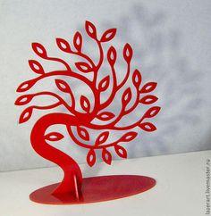 Статуэтки ручной работы. Ярмарка Мастеров - ручная работа. Купить Ажурные деревья из акрилового пластика. Handmade. Дерево, подставка для украшений