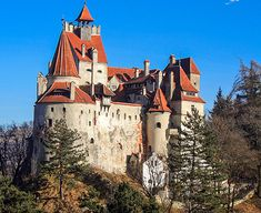 """Dracula"" sites to see in Romania. Transylvania Castle, Bran Castle Romania, Dracula Castle, Peles Castle, Mountain Bike Tour, Famous Castles, Shore Excursions, Ancient Ruins, Bucharest"